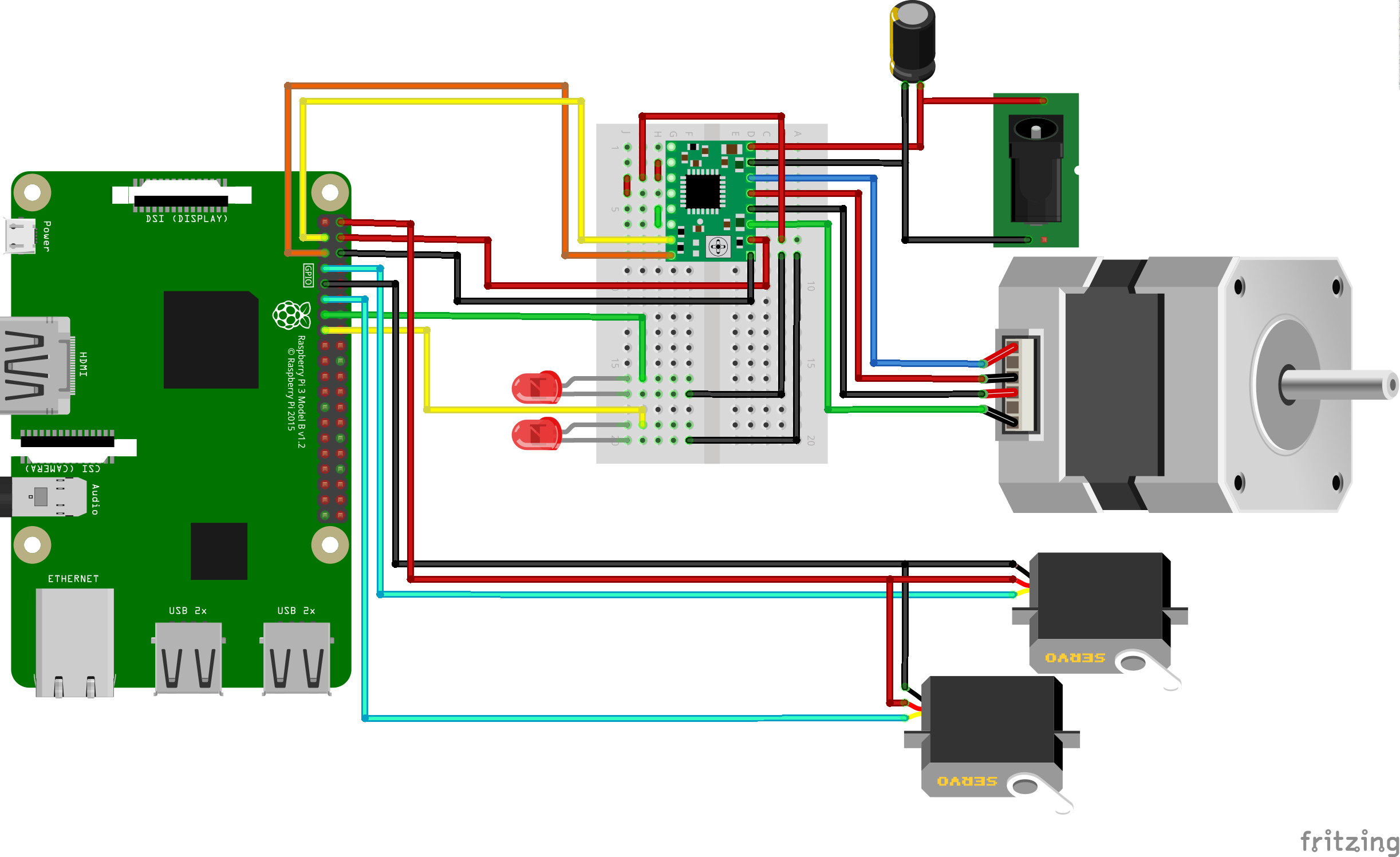 Control a RaspberryPi Robot using Python and a mobile
